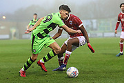 Forest Green Rovers Olly Mehew(29) runs forward during the Gloucestershire Senior Cup match between Forest Green Rovers and U23 Bristol City at the New Lawn, Forest Green, United Kingdom on 9 April 2018. Picture by Shane Healey.