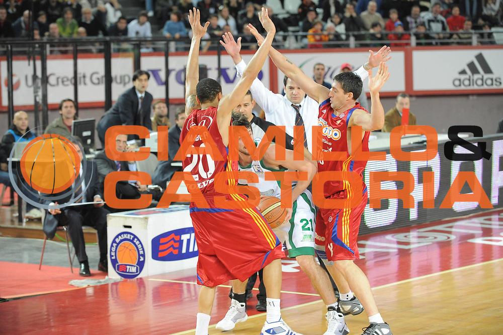 DESCRIZIONE : Roma Lega A1 2008-09 Lottomatica Virtus Roma Air Avellino<br /> GIOCATORE : Drake Diener Roberto Gabini<br /> SQUADRA : Lottomatica Virtus Roma <br /> EVENTO : Campionato Lega A1 2008-2009<br /> GARA : Lottomatica Virtus Roma Air Avellino<br /> DATA : 11/01/2009<br /> CATEGORIA : Contesa Difesa<br /> SPORT : Pallacanestro <br /> AUTORE : Agenzia Ciamillo-Castoria/G.Ciamillo