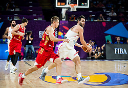 Dmitry Khvostov of Russia vs Fernando San Emeterio of Spain during basketball match between National Teams  Spain and Russia at Day 18 in 3rd place match of the FIBA EuroBasket 2017 at Sinan Erdem Dome in Istanbul, Turkey on September 17, 2017. Photo by Vid Ponikvar / Sportida