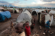 Kiwanja camp for IDPs (Internally Displaced Persons), about 80km north of of Goma, DRC on April 26, 2010. The long war had involved 9 African nations and claimed an estimated three million lives as a result of fighting or disease and malnutrition..Photo by Kuni Takahashi