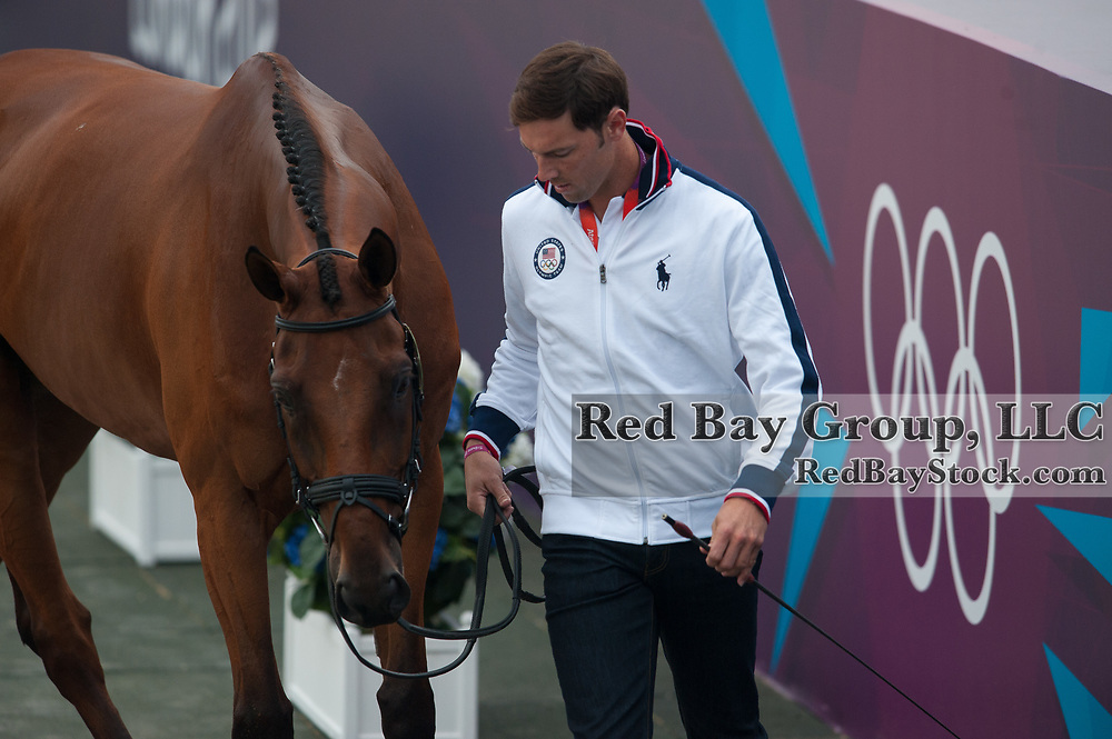 William Coleman (USA) & Twizzel - Eventing First Inspection - London 2012 Olympic Games - Greenwich Park, London, United Kingdom -  27 July 2012
