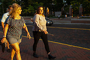Lisa and Julia Straub walk down Union Street during Parents Weekend on Sept. 20, 2019. Photo by Hannah Ruhoff