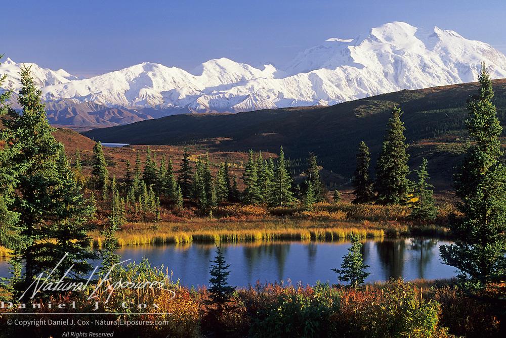 Wonder Lake and Mount McKinley in Denali National Park, Alaska.