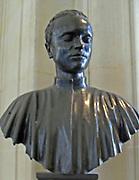 Venice at the start of XVI century. Young patrician (Marc Antonio Giustiniani?)  sculpture in Bronze