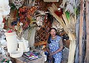 Shopkeeper at the flower market near Lake Anosy. City centre, Antananarivo. Madagascar...© Zute Lightfoot