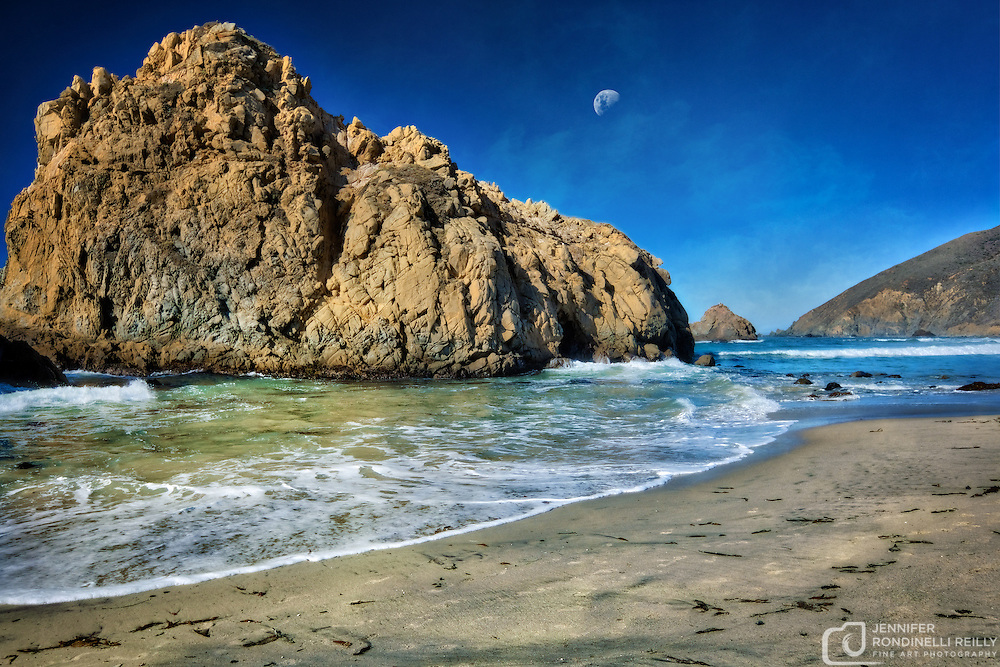 Photo taken on a bright sunny day at the beautiful Pfeiffer Beach in Big Sur,CA.