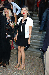 SARA PARKER-BOWLES at a party to celebrate Stephen Jones's 25 Years of Millinery held at Debenham House, 8 Addison Road, London W14 on 13th July 2006.<br />