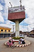 Laos, Luang Prabang Province. The main crossroads at Phou Khoun.