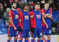 Football - 2016 / 2017 FA Cup - Fourth Round: Crystal Palace vs. Manchester City<br /> <br /> Crystal Palace wall - l-r James Tomkins, Loic Remy, James McArthur and Martn Kelly at Selhurst Park.<br /> <br /> COLORSPORT/ANDREW COWIE