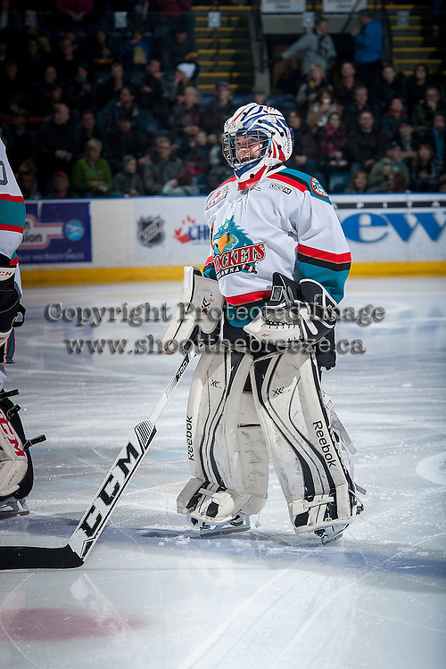 KELOWNA, CANADA - DECEMBER 28: Ben Harris is the Pepsi Save-On Foods player of the game on December 28, 2015 at Prospera Place in Kelowna, British Columbia, Canada.  (Photo by Marissa Baecker/Shoot the Breeze)  *** Local Caption *** Ben Harris; Pepsi Player;