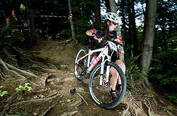 Eva Jagodic during Cross Country XC Mountain bike race for Slovenian National Championship in Kamnik, on July 12, 2015 in Kamnik,  Slovenia. Photo by Vid Ponikvar / Sportida