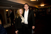 Gillian Anderson; Mark Griffiths, The Laurence Olivier Awards, The Grosvenor House Hotel. Park Lane. London. 8 March 2009