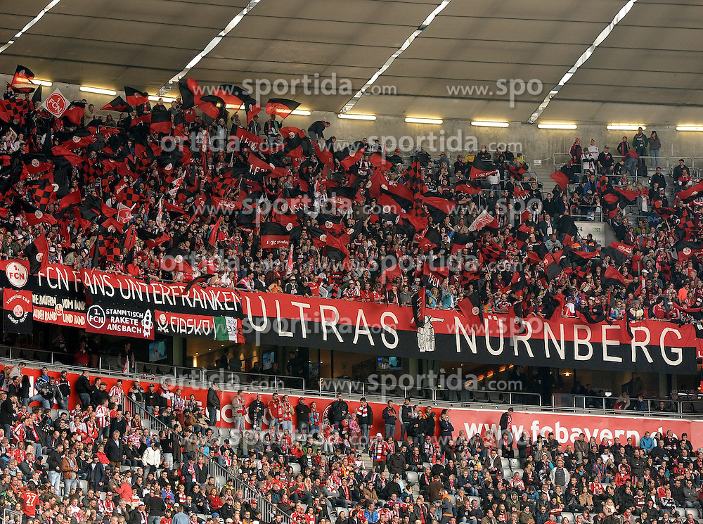 13.04.2013, Allianz Arena, Muenchen, GER, 1. FBL, FC Bayern Muenchen vs 1. FC Nuernberg, 29. Runde, im Bild Fans des 1.FC Nuernberg in der Allianz Arena // during the German Bundesliga 29th round match between FC Bayern Munich and 1. FC Nuernberg at the Allianz Arena, Munich, Germany on 2013/04/13. EXPA Pictures © 2013, PhotoCredit: EXPA/ Eibner/ Wolfgang Stuetzle..***** ATTENTION - OUT OF GER *****
