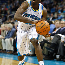 February 7, 2011; New Orleans, LA, USA; New Orleans Hornets small forward Quincy Pondexter (20) against the Minnesota Timberwolves during the first quarter at the New Orleans Arena.   Mandatory Credit: Derick E. Hingle