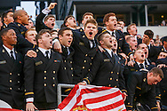 Navy Midshipmen cheer during the Army Navy football game at Lincoln Financial Field in Philadelphia, PA on December 12, 2015. (Alan Lessig/Staff)
