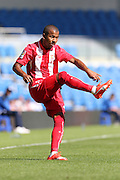 Mariano Ferreira of Sevilla during the Pre-Season Friendly match between Brighton and Hove Albion and Sevilla at the American Express Community Stadium, Brighton and Hove, England on 2 August 2015. Photo by Stuart Butcher.
