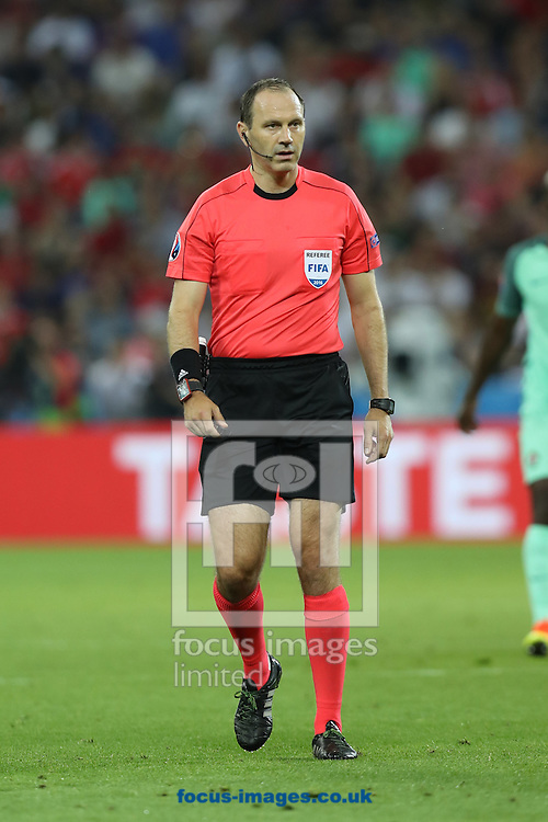 Referee Jonas Eriksson (Sweden) during the UEFA Euro 2016 semi-final match at Stade de Lyons, Lyons<br /> Picture by Paul Chesterton/Focus Images Ltd +44 7904 640267<br /> 06/07/2016