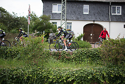Parkhotel Valkenburg - Destil Cycling Team riders ride to the start of Stage 2 of the Lotto Thuringen Ladies Tour - a 102.9 km road race, starting and finishing in Dortendorf on July 14, 2017, in Thuringen, Germany. (Photo by Balint Hamvas/Velofocus.com)
