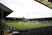 Craven Cottage pitch getting watered during the Pre-Season Friendly match between Fulham and Crystal Palace at Craven Cottage, London, England on 30 July 2016. Photo by Matthew Redman.