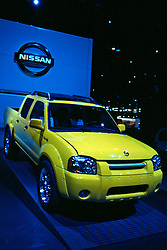 Nissan Frontier Pickup Truck as seen at the Chicago Auto Show in February 2001 at McCormick Place, Chicago Illinois...This image was scanned from a slide, print or transparency. Image quality may vary. Dust and other unwanted artifacts may exist.