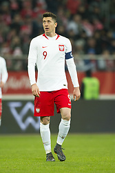 March 23, 2018 - Wroclaw, Poland - Robert Lewandowski of Poland pictured during the international friendly match between Poland and Nigeria at Wroclaw Stadium in Wroclaw, Poland on March 23, 2018  (Credit Image: © Andrew Surma/NurPhoto via ZUMA Press)