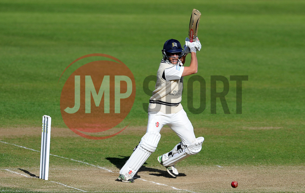 Middlesex's Neil Dexter flicks the ball- Photo mandatory by-line: Harry Trump/JMP - Mobile: 07966 386802 - 29/04/15 - SPORT - CRICKET - LVCC Division One - County Championship - Somerset v Middlesex - Day 4 - The County Ground, Taunton, England.