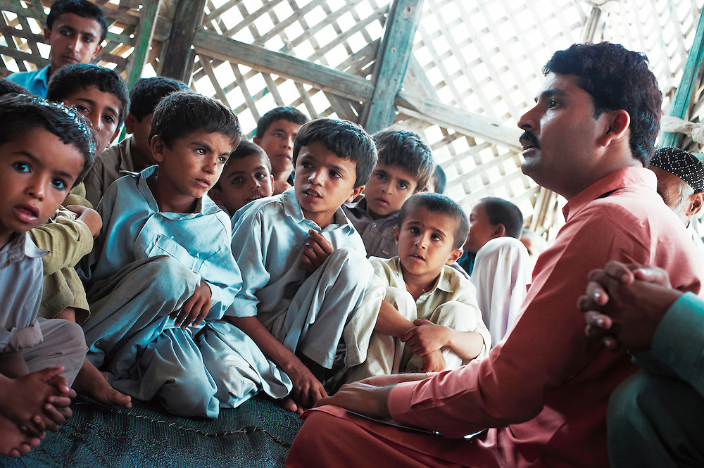A health promotion class operated in the village of Muhammad Khan Malkani, Sindh, Pakistan on June 30, 2011.