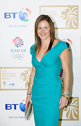 Hockey star Sarah Thomas during the BT Olympic Ball, held at the Grosvenor Hotel, London, UK, November 30, 2012. Photo By Anthony Upton / i-Images.