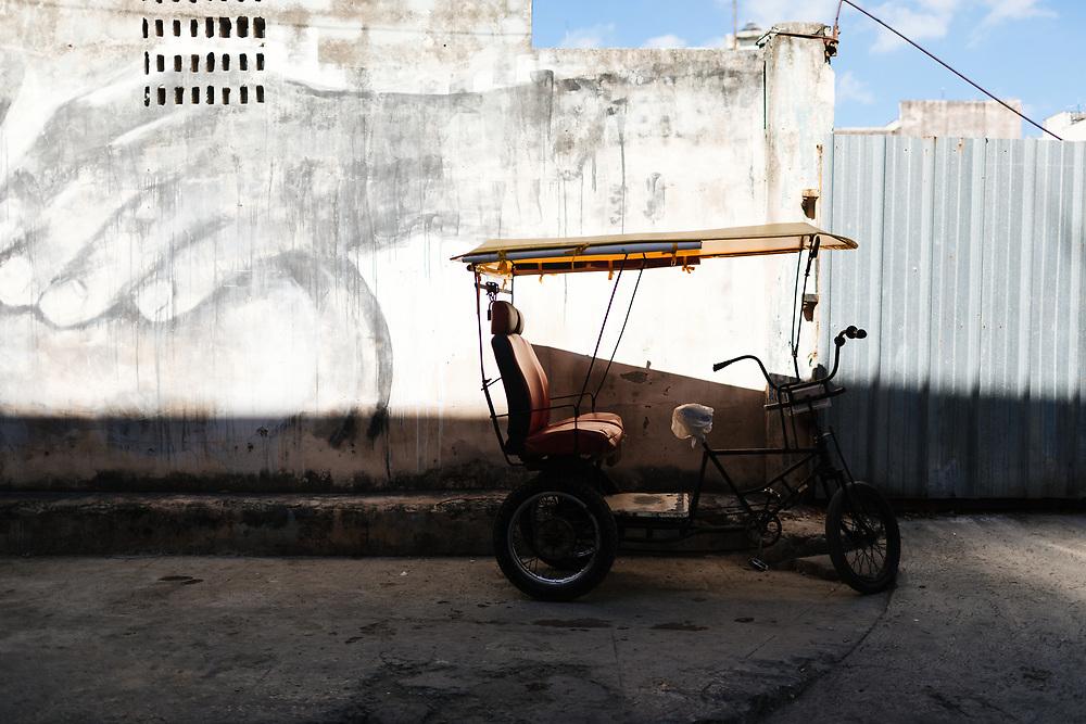 Pedicab in Old Havana, Havana, Cuba