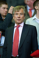 LIVERPOOL, ENGLAND - Monday, April 19, 2010: Liverpool's new Chairman Martin Broughton sees his side take on West Ham United during the Premiership match at Anfield. (Photo by: David Rawcliffe/Propaganda)