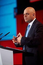 © Licensed to London News Pictures. 03/03/2016 London UK. Secretary of State for Business, Innovation and Skills Rt Hon Sajid Javid speaks at The British Chamber of Commerce Annual Conference at The QE ll Conference Centre, Westminster.<br /> Photo credit : Simon Jacobs/LNP