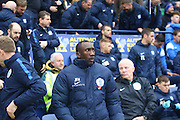 Queens Park Rangers manager Jimmy Floyd Hasselbaink during the Sky Bet Championship match between Preston North End and Queens Park Rangers at Deepdale, Preston, England on 19 March 2016. Photo by Pete Burns.