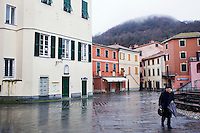 Sesta Godano, Italy - 14 January, 2013:  in Sesta Godano, Italy, on 14 January, 2013. <br /> <br /> Sesta Godano is a town in the province of La Spezia, in the Liguria region, with a population of about 1,400.  Because of a low number of children in the area, students in the elementary and seconday have been grouped in multigrade classes. According to the ISTAT (Italian National Statistical Institute) Liguria is the oldest of the Italian regions, with the highes ageing index of 232 percent compared to the national average of 144,5 percent and the EU average of 111,3 percent (data is from 2010). In Liguria there are almost twie as much deaths than births. The average age in Liguria is 48 years old. <br /> <br /> Italy is ageing. According to ISTAT, the average age will rise from 43.5 in 2011 to a maximum of 49.8 in 2059.