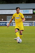 AFC Wimbledon midfielder Dannie Bulman (4) during the Pre-Season Friendly match between Dover Athletic and AFC Wimbledon at Crabble Athletic Ground, Dover, United Kingdom on 12 July 2016. Photo by Stuart Butcher.