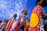 Image of Masai Mara women in traditional clothing, Masai Mara National Reserve in Kenya, model released