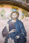 Church of St Saviour in Chora, Kariye Museum St Savior Deesis mosaic of Jesus Christ, The Chalkite Christ in Istanbul, Turkey