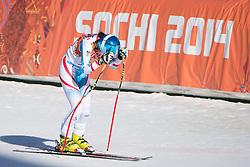 12.02.2014, Rosa Khutor Alpine Center, Krasnaya Polyana, RUS, Sochi, 2014, Abfahrt Damen, im Bild Cornelia Huetter (AUT) // during the Womens downhill of the Olympic Winter Games Sochi 2014 at the Rosa Khutor Alpine Center in Krasnaya Polyana, Russia on 2014/02/12. EXPA Pictures © 2014, PhotoCredit: EXPA/ Freshfocus/ Michael Zanghellini<br /> <br /> *****ATTENTION - for AUT, SLO, CRO, SRB, BIH, MAZ only*****