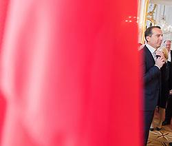 11.07.2017, Präsidentschaftskanzlei, Wien, AUT, ÖFB, Verabschiedung der Damen-Fußballnationalmannschaft, im Bild Bundeskanzler Christian Kern (SPÖ) // Federal Chancellor of Austria Christian Kern during farewell event of the Woman's Team of the Austrian Football Association at the federal presidents office in Vienna, 2017/07/11. EXPA Pictures © 2017 PhotoCredit: EXPA/ Michael Gruber