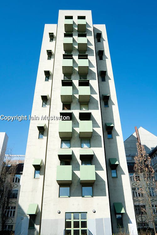 Kreuzberg Tower residential apartment building designed by John Hejduk in Berlin Germany