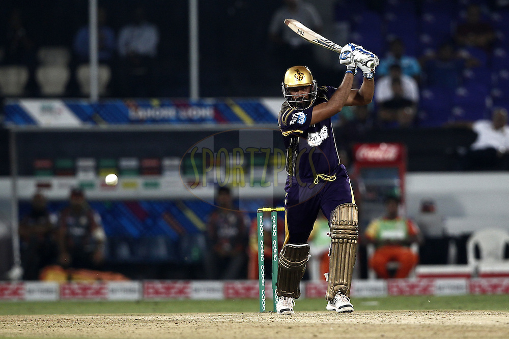Yusuf Pathan of the Kolkata Knight Riders  during match 7 of the Oppo Champions League Twenty20 between the Kolkata Knight Riders and the Lahore Lions held at the Rajiv Gandhi Cricket Stadium, Hyderabad, India on the 21st September 2014<br /> <br /> Photo by:  Deepak Malik / Sportzpics/ CLT20<br /> <br /> <br /> Image use is subject to the terms and conditions as laid out by the BCCI/ CLT20.  The terms and conditions can be downloaded here:<br /> <br /> http://sportzpics.photoshelter.com/gallery/CLT20-Image-Terms-and-Conditions-2014/G0000IfNJn535VPU/C0000QhhKadWcjYs