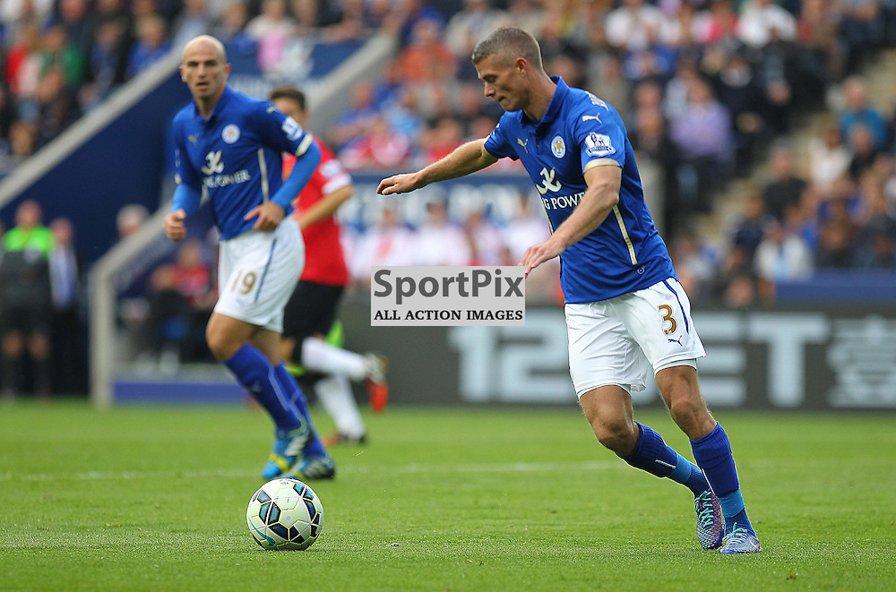 Leicester City's Paul Konchesky during the Barclays Premiership match between Leicester City FC and Manchester United FC, at the King Power Stadium, Leicester, 21st September 2014 © Phil Duncan | SportPix.org.uk