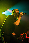Matisyahu performing at the Austin Music Hall, Austin Texas, June 9, 2009.  Matisyahu is Matthew Paul Miller (born June 30, 1979), an American Hasidic Jewish reggae musician.