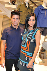 LEIGH LEZARK and GEORDON NICOL at a party to celebratethe opening of the Lacoste Flagship Store at 44 Brompton Road, Knightsbridge, London on 20th June 2012.