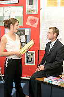 Melanie Berry & Jason Lowe, teachers at Kingsway High School Chester....© Martin Jenkinson, tel 0114 258 6808 mobile 07831 189363 email martin@pressphotos.co.uk. Copyright Designs & Patents Act 1988, moral rights asserted credit required. No part of this photo to be stored, reproduced, manipulated or transmitted to third parties by any means without prior written permission