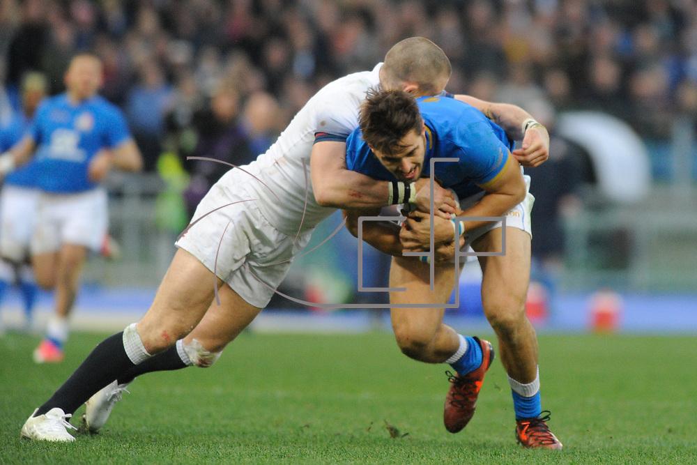 Roma 04/02/2018 Stadio Olimpico<br /> Natwest 6 nations Italia vs Inghilterra<br /> Mattia Bellini