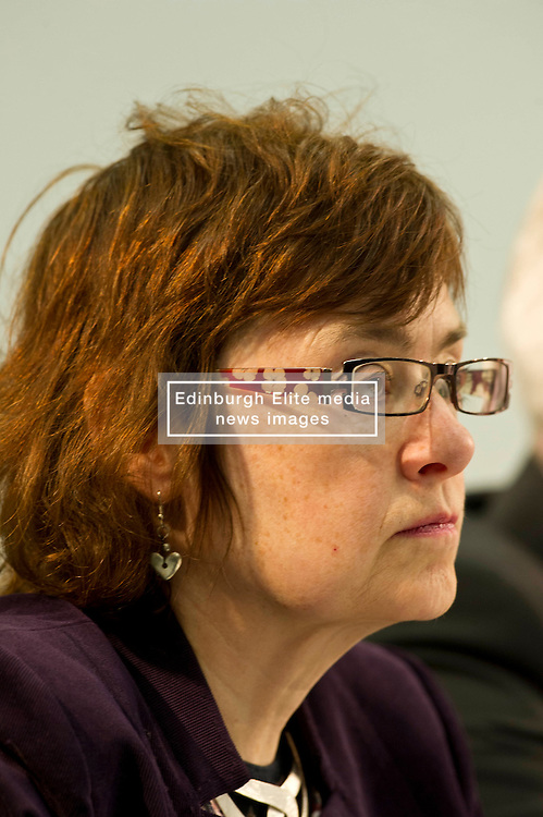 Pictured: Sarah Boyack (Labour candidate for Edinburgh Central)<br /> <br /> Candidates from the five main parties will face questions from both a live audience and viewers at home via videolink and social media at an event organised by Stop Climate Chaos Scotland and chaired by journalist David Torrance. The panelists are Labour's Sarah Boyack, Mark Ruskell of the Greens, Ben MacPherson of the SNP, the Lib Dems' Ettie Spencer and Tory Jeremy Balfour<br /> <br /> Ger Harley   EEm 18 April 2016