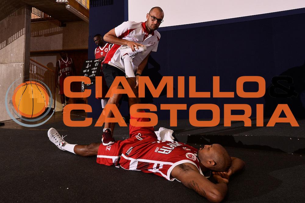 Ricky Hickman Claudio Lomma <br /> EA7 Emporio Armani Olimpia Milano - Legnano Knights <br /> Lega Basket Serie A 2016/2017<br /> Bormio 28/08/2016<br /> Foto Ciamillo-Castoria