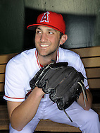 Angels pitcher Nick Adenhart, 22, was killed in a car accident in Fullerton following his 2009 debut Wednesday night. Two others died in the accident that took place at the intersection of Orangethorpe Avenue and Lemon Street in Fullerton...///ADDITIONAL INFO: adenhart.0410.kjs1.jpg  ---  Photo by Kevin Sullivan, The Orange County Register --  2/25/09..The Los Angeles Angels of Anaheim - 2009 Spring Training - Photo Day...Photographed Wednesday February 25, 2009..