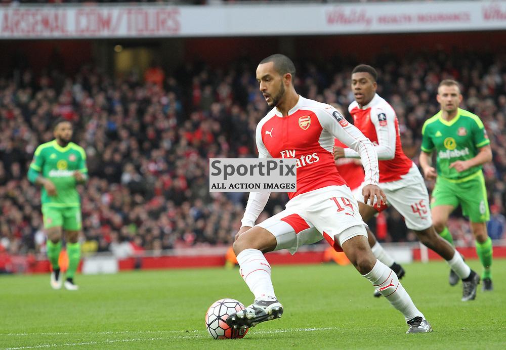 Walcott mounts an attack against Sunderland
