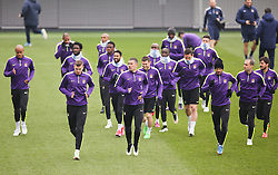 Manchester City players pictured during the training session at the Etihad Campus ahead of the UEFA Champions League second leg match against FC Barcelona - Photo mandatory by-line: Matt McNulty/JMP - Mobile: 07966 386802 - 17/03/2015 - SPORT - Football - Manchester - Etihad Campus - Barcelona v Manchester City - UEFA Champions League